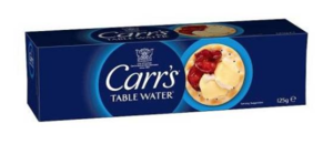 Carr's Table Water Cracker 125 Gr