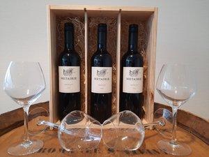 Wijnpakket Metairie Merlot 3x75 Cl